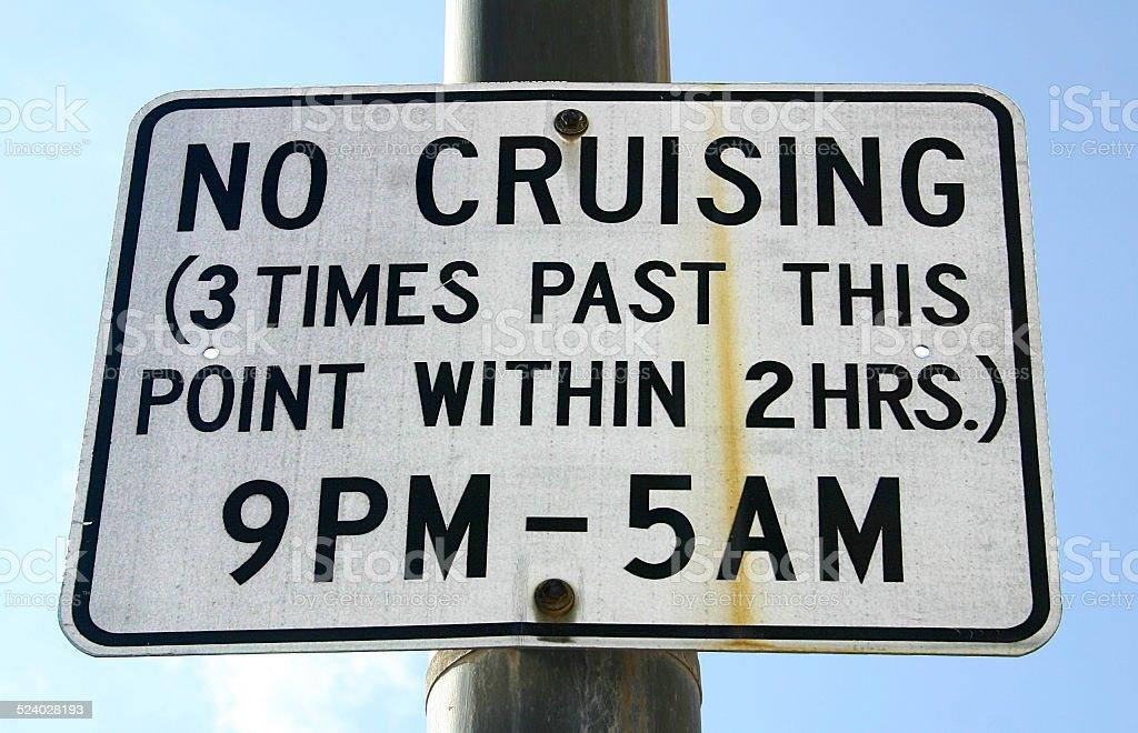No Cruising stock photo