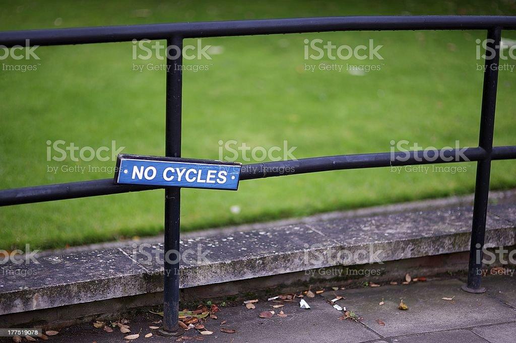 No Cycles royalty-free stock photo