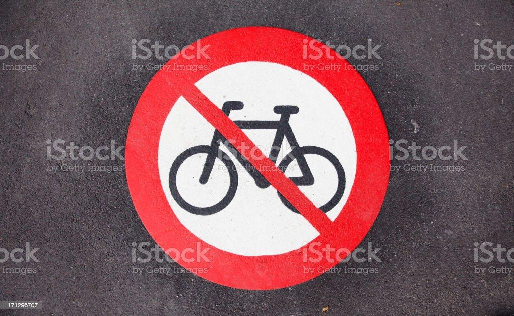 No cycling royalty-free stock photo