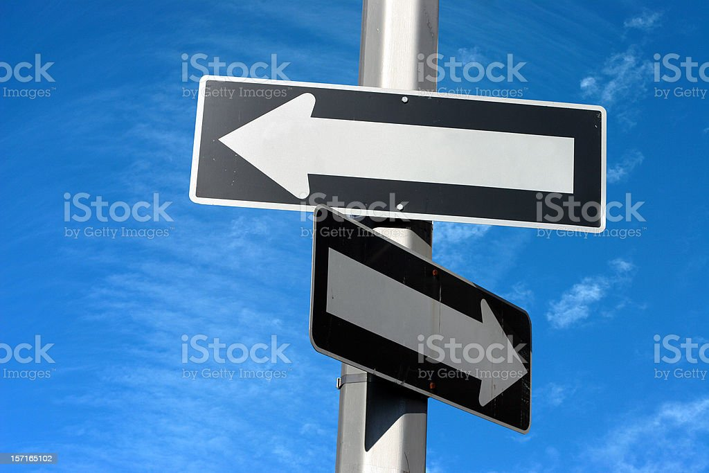 no direction stock photo