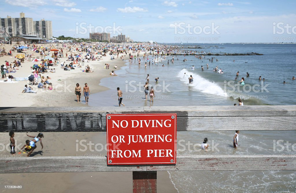 No Diving From Pier stock photo