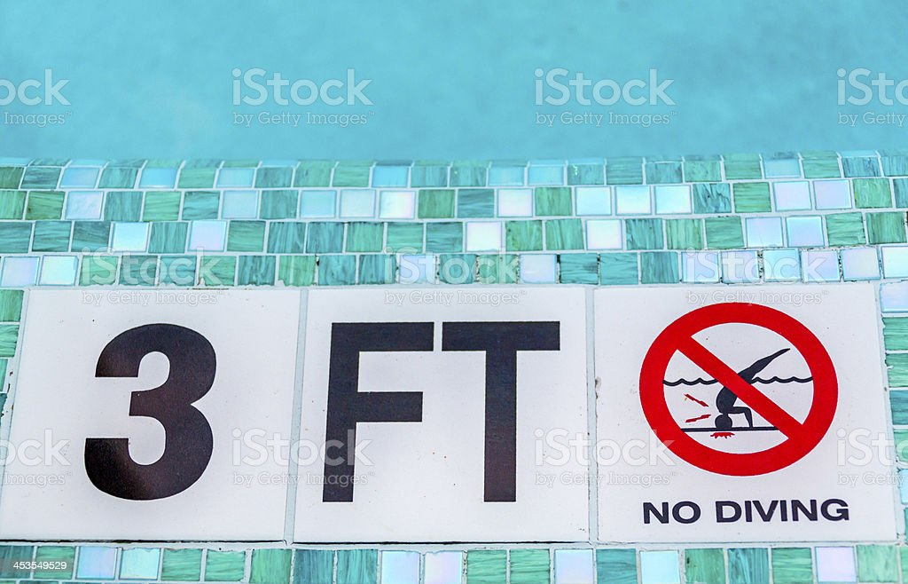 No Diving stock photo