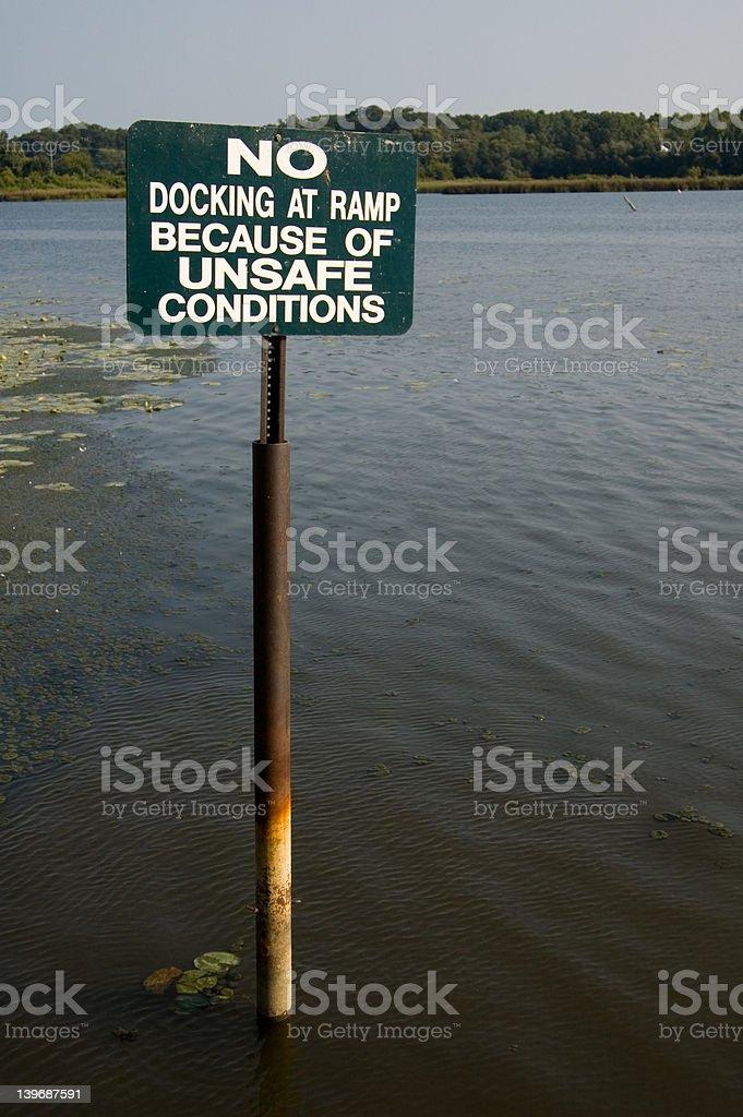 No Docking Sign stock photo