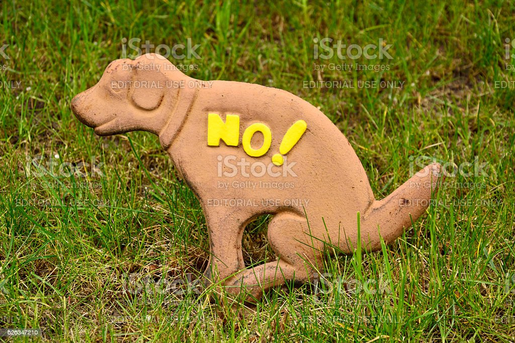 No Dog Poop Outdoor decoration stock photo