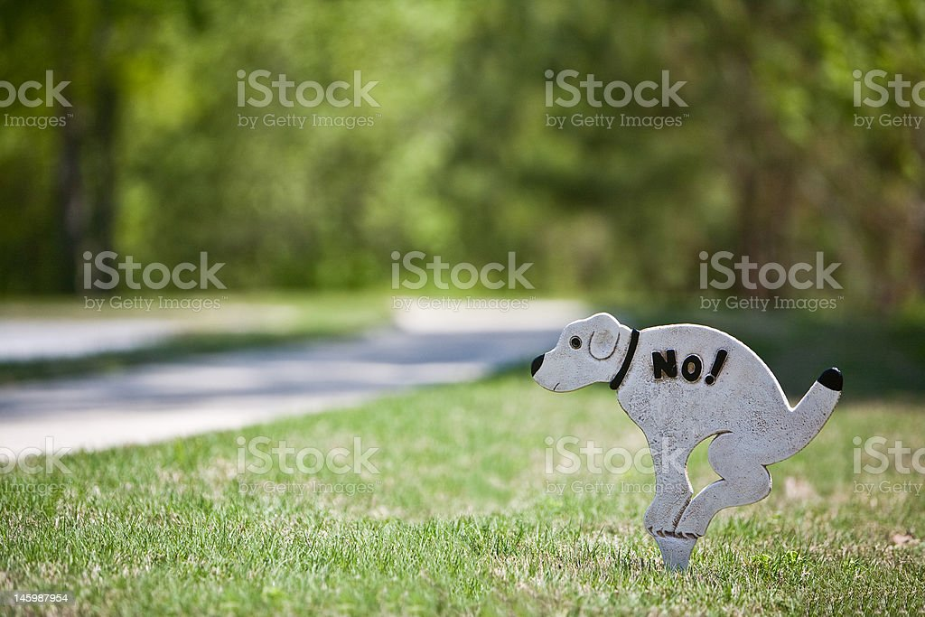 No Doggie Doo stock photo