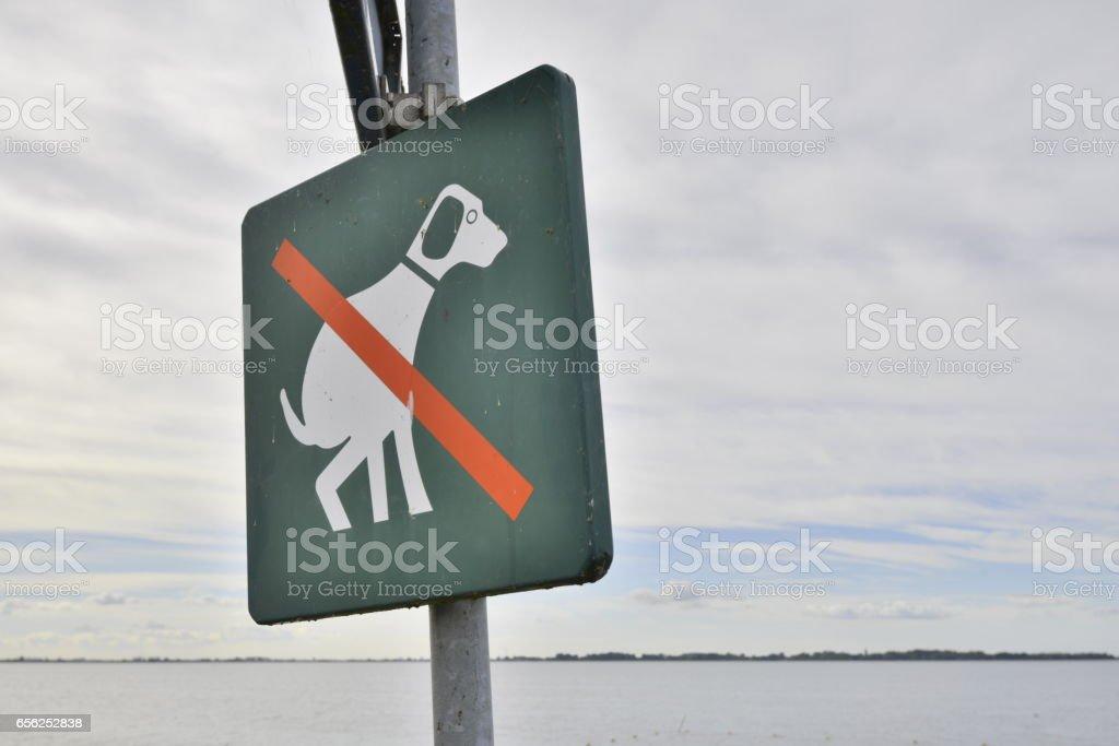No dogpoo sign stock photo