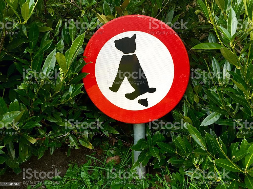 No dogs allowed here sign in Enschede The Netherlands stock photo