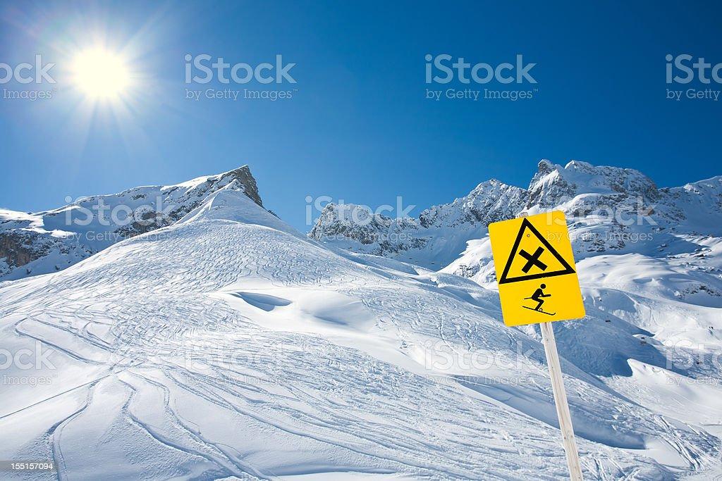 No downhill sign stock photo