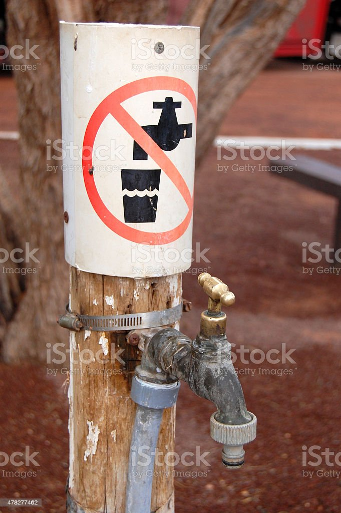 No drinking sign stock photo