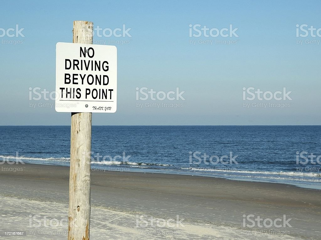 No Driving - Beach Access Sign Amelia Island Florida stock photo