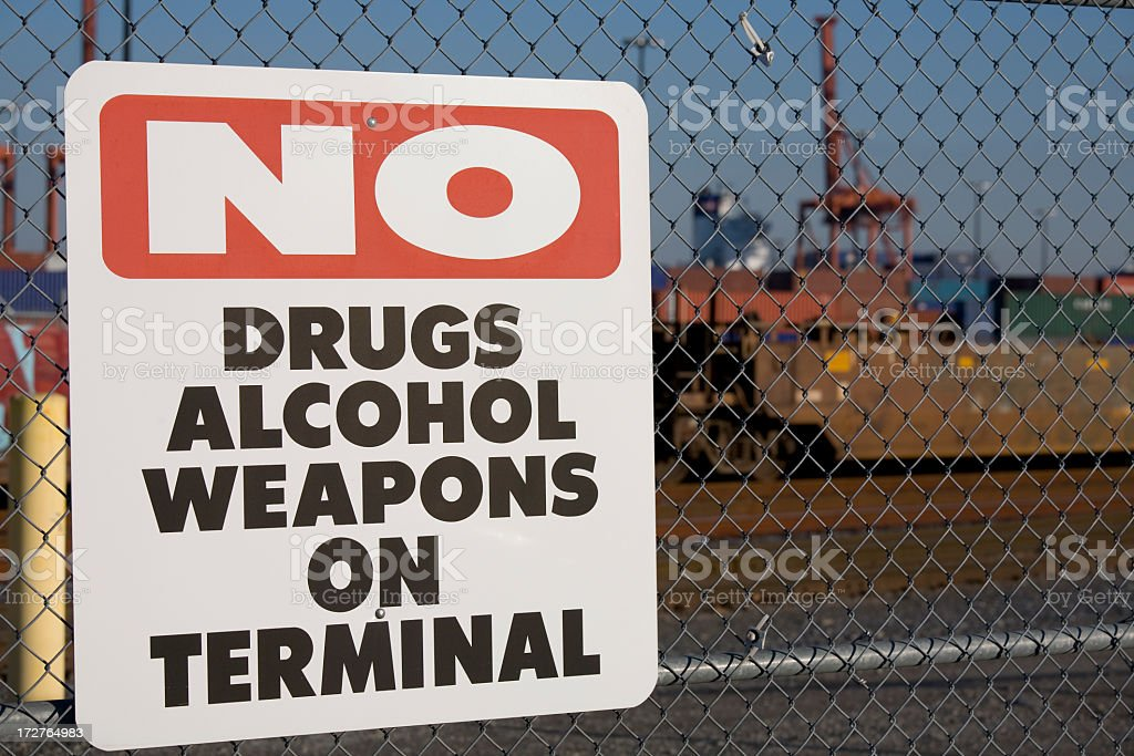 No drugs on terminal stock photo