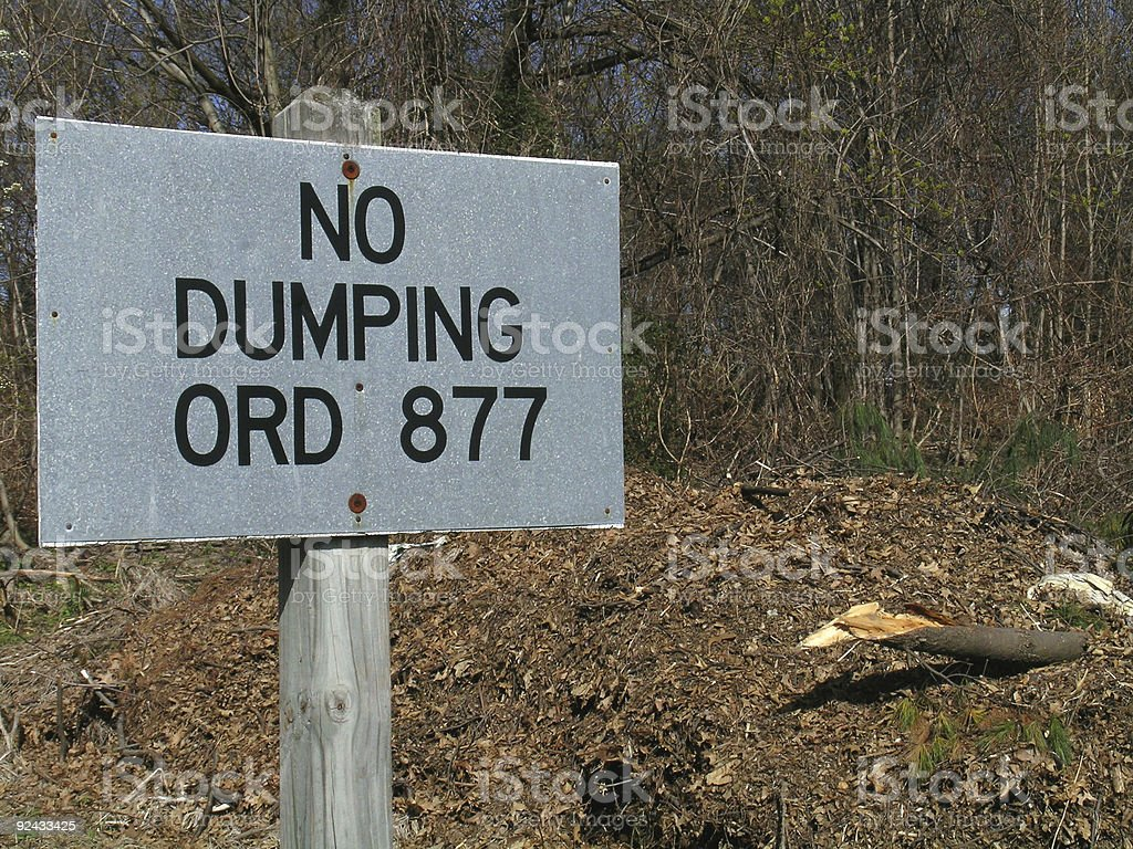 No Dumping Sign royalty-free stock photo
