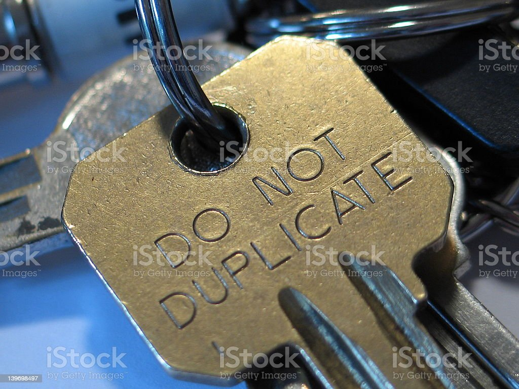 No dupes allowed stock photo