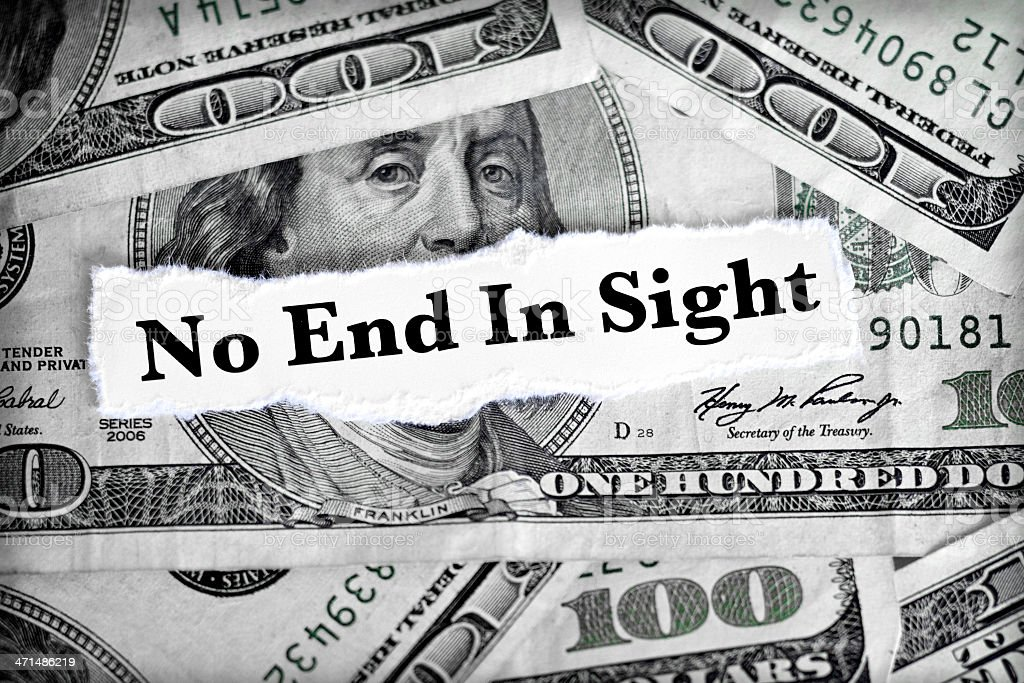 no end in sight royalty-free stock photo