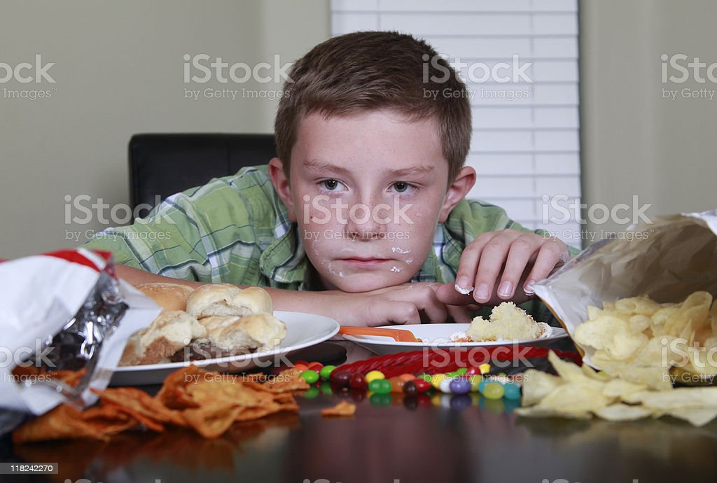 No Energy after Eating Junk Food stock photo