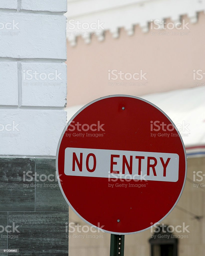 No Entry 2 royalty-free stock photo