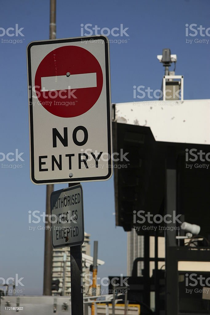 No Entry! royalty-free stock photo