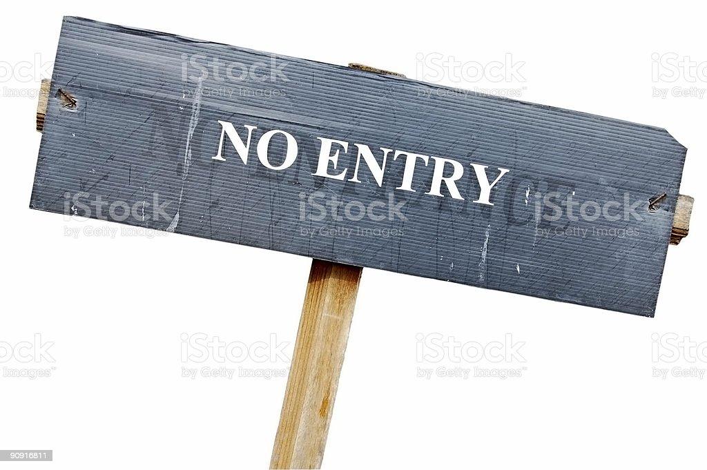 No entry royalty-free stock photo