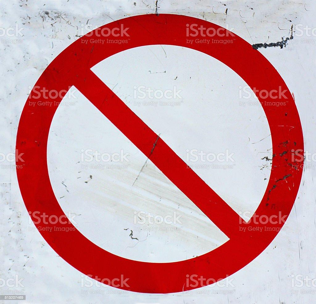 Nessuna voce Cartello stradale di clipping path incrociate foto stock royalty-free