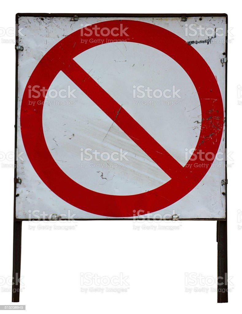 Nessuna voce Cartello stradale di clipping path foto stock royalty-free