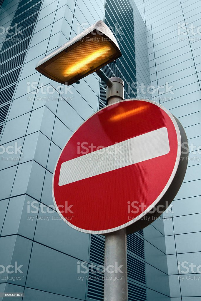 No Entry Sign royalty-free stock photo
