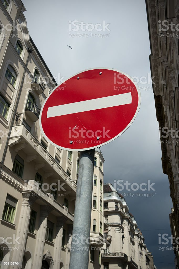 No entry! sign stock photo
