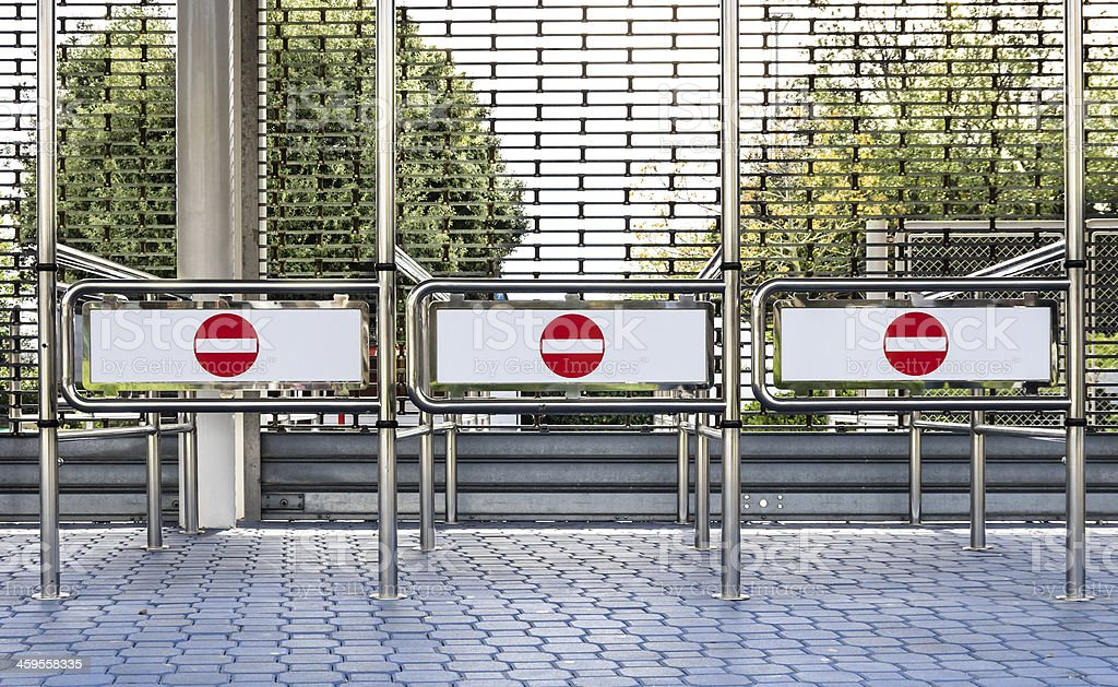 No Entry Signs stock photo