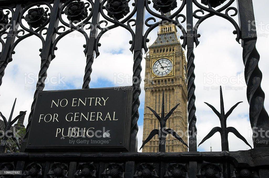 No entry to Big Ben stock photo