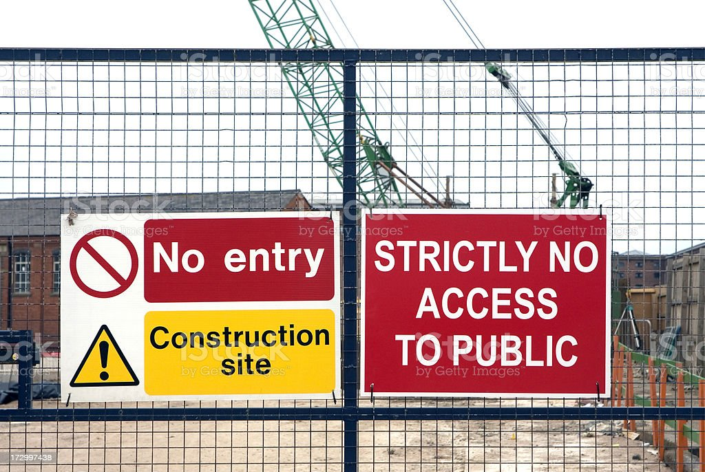 No Entry to building site royalty-free stock photo
