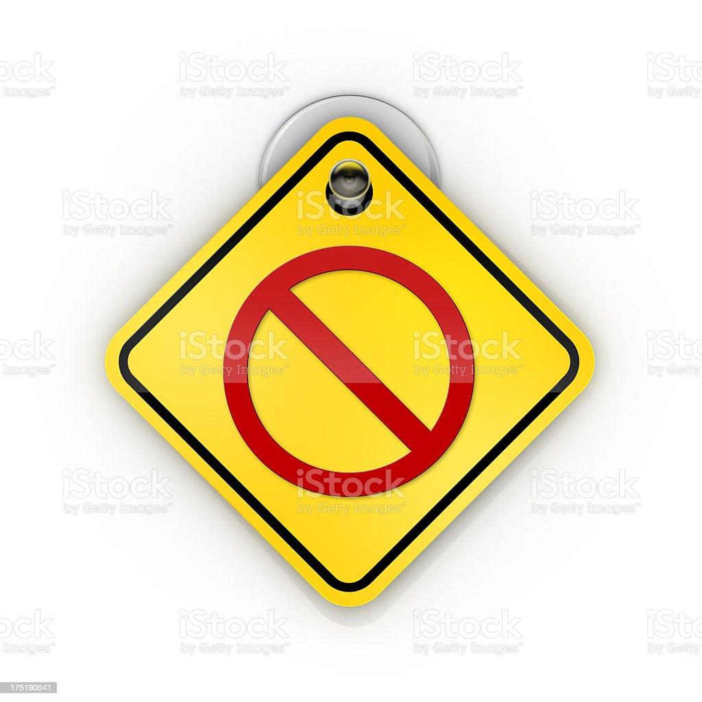 No Entry warning Sticky sign stock photo