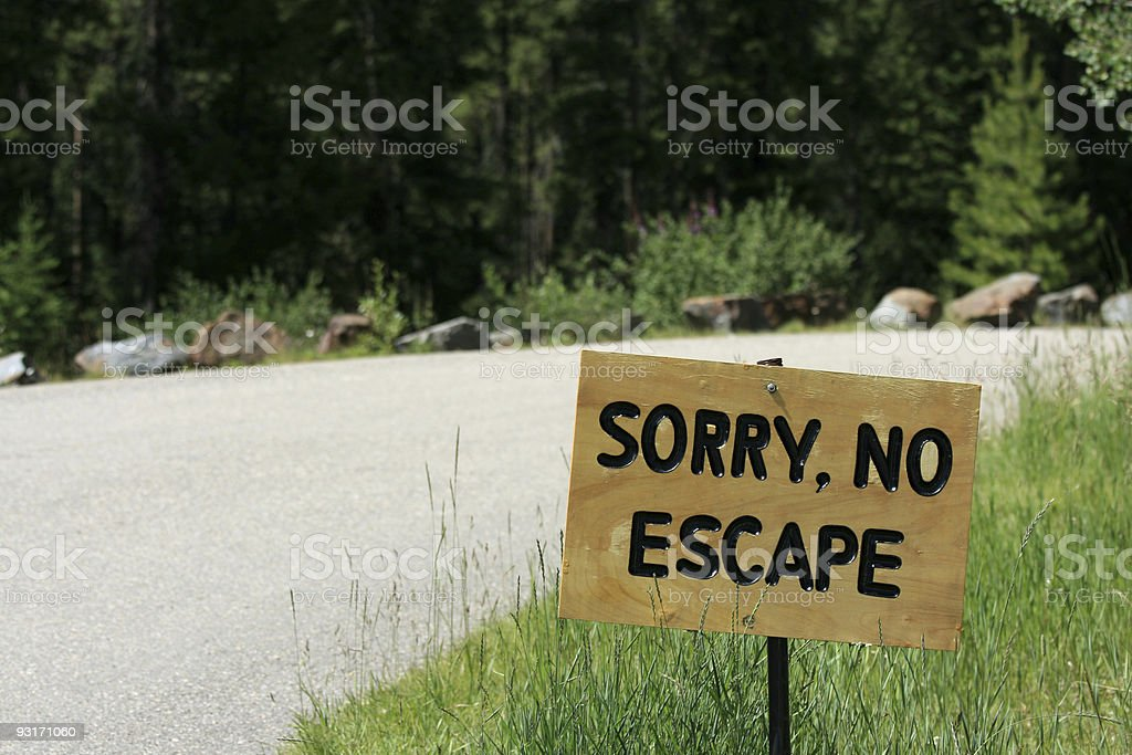 No Escape Sign royalty-free stock photo