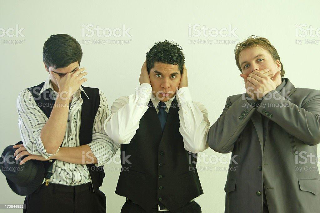 No Evil Monkies royalty-free stock photo