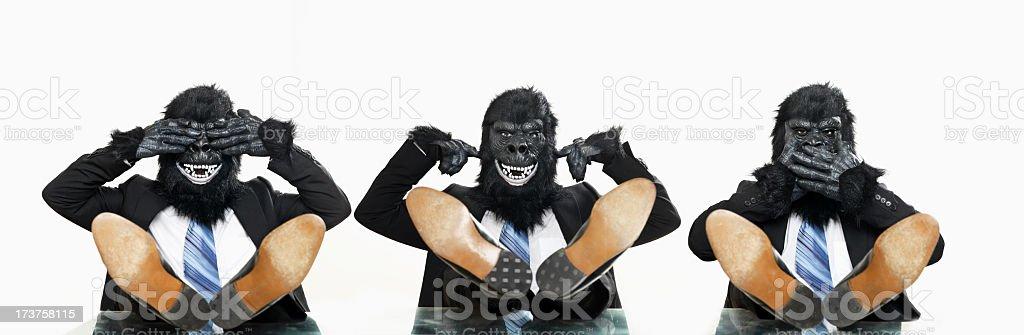 No evil royalty-free stock photo