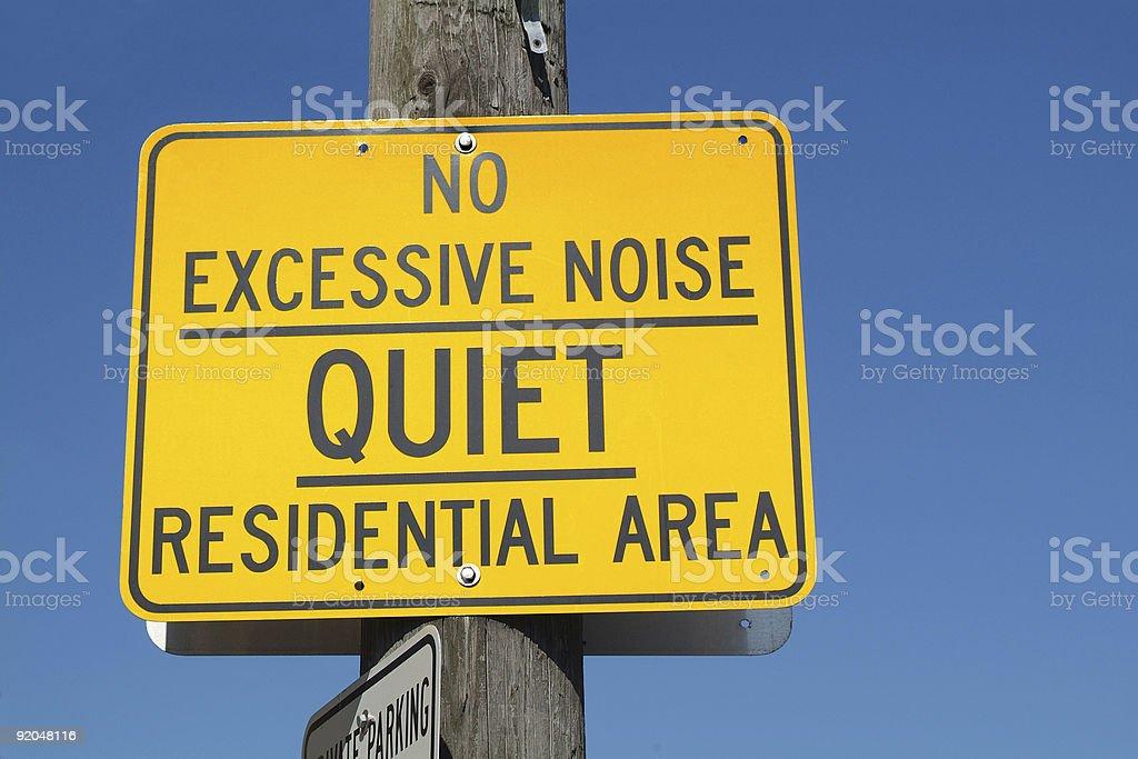 No Excessive Noise stock photo