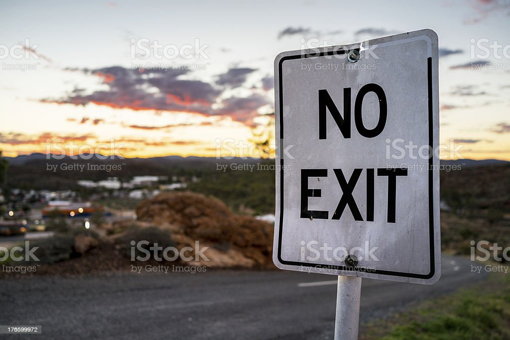 No Exit royalty-free stock photo