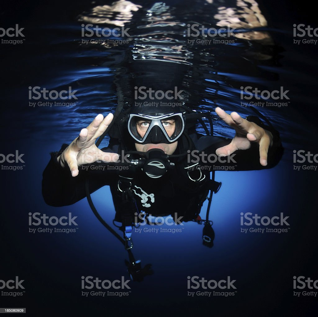 No Fear Of Diving royalty-free stock photo
