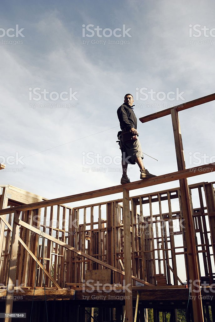 No fear of heights royalty-free stock photo