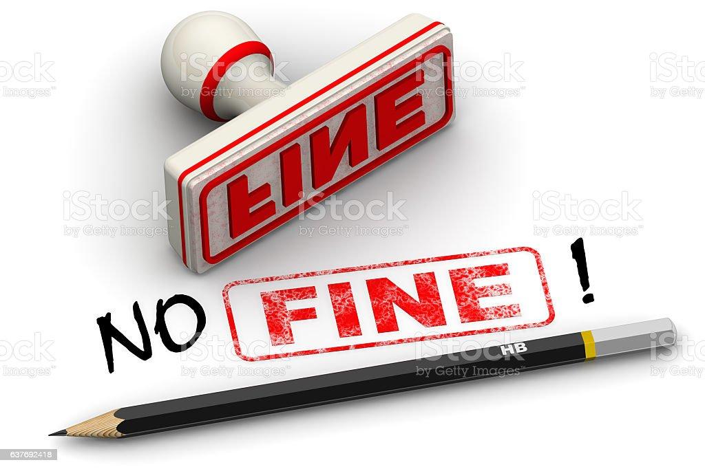 No fine! Corrected seal impression stock photo