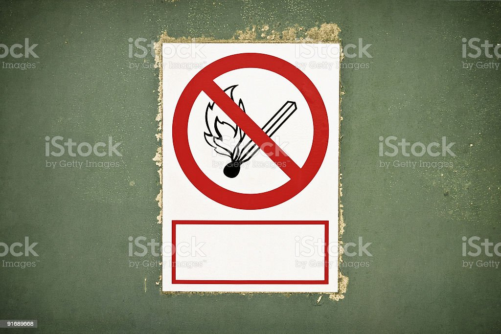 No fire allowed royalty-free stock photo