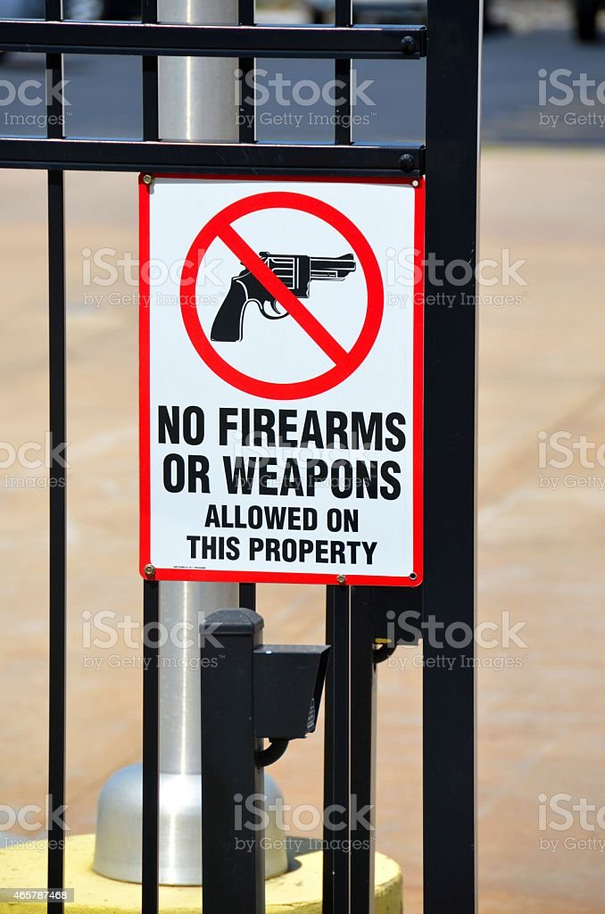 No Firearms Allowed stock photo