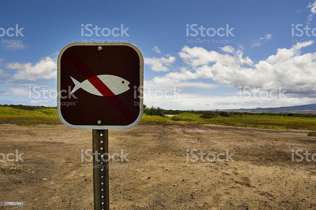 No Fish royalty-free stock photo