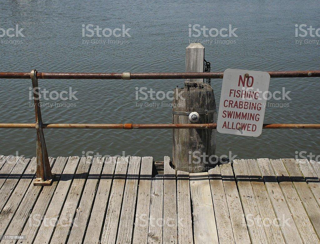 No fishing dock royalty-free stock photo