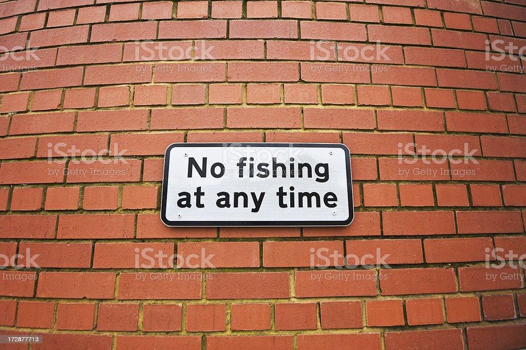 No Fishing royalty-free stock photo