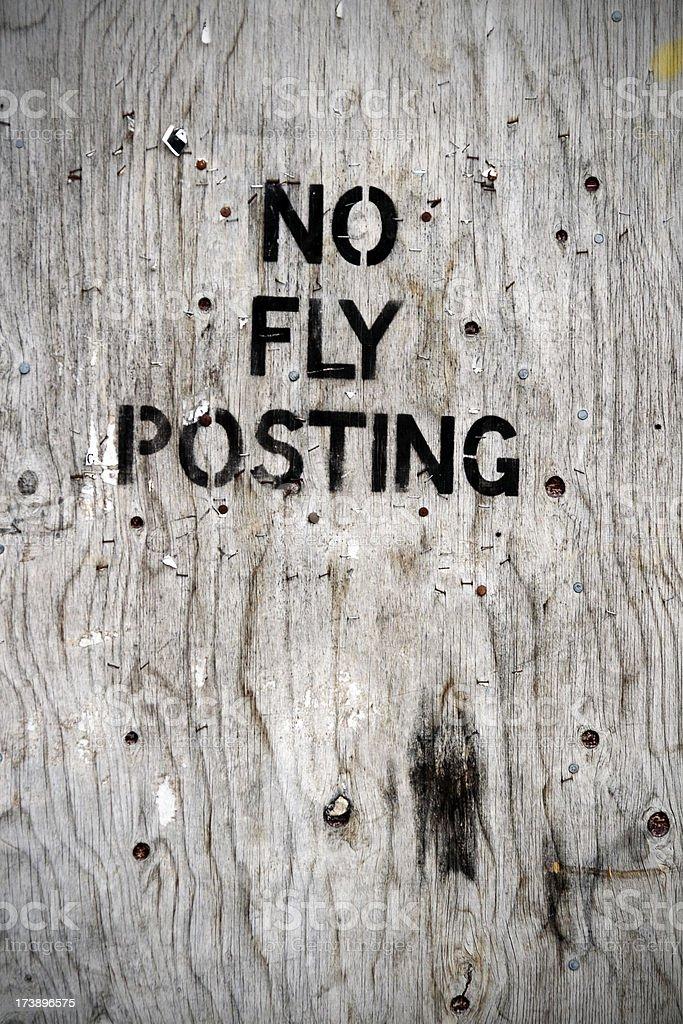 No fly posting royalty-free stock photo