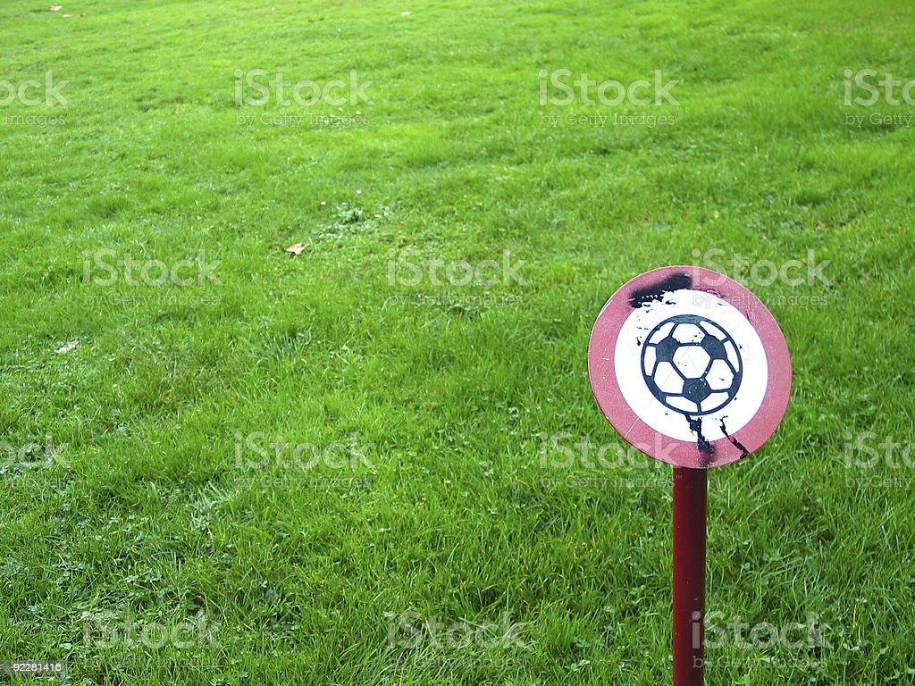 No Football Please!! stock photo