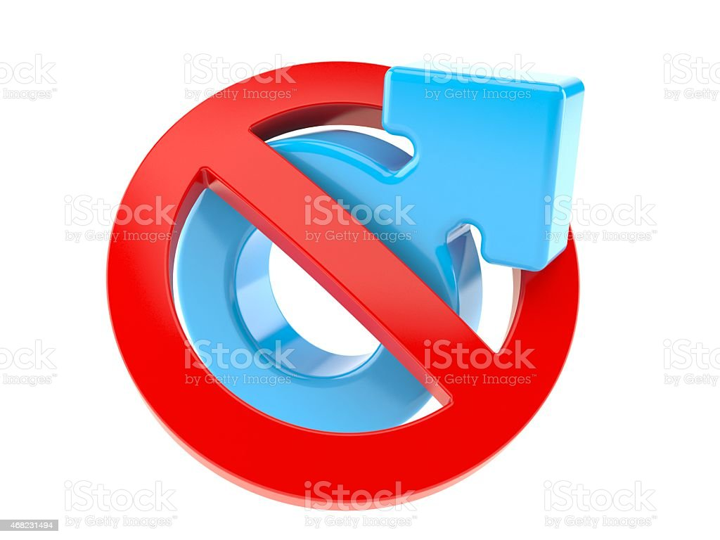 No for men stock photo