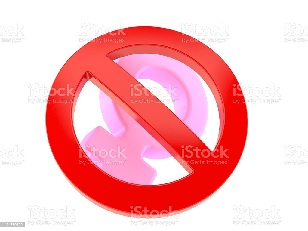 No for women stock photo