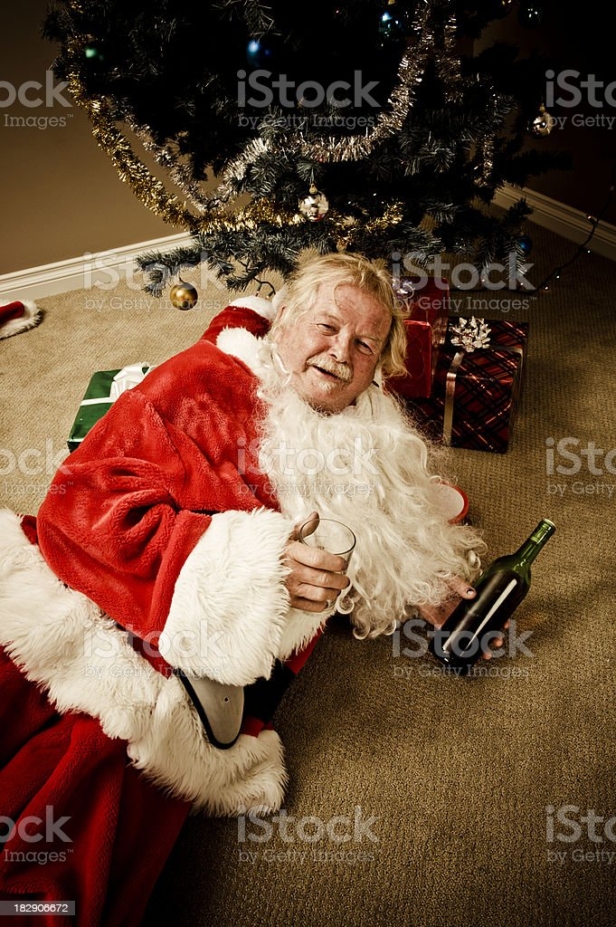 No Good Santa stock photo
