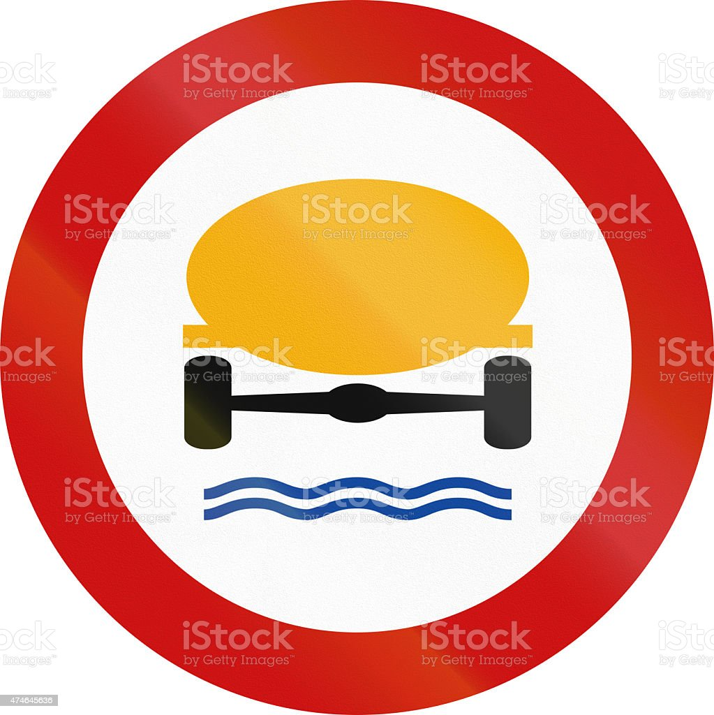 No Goods Dangerous To Water Reserves In Greece stock photo