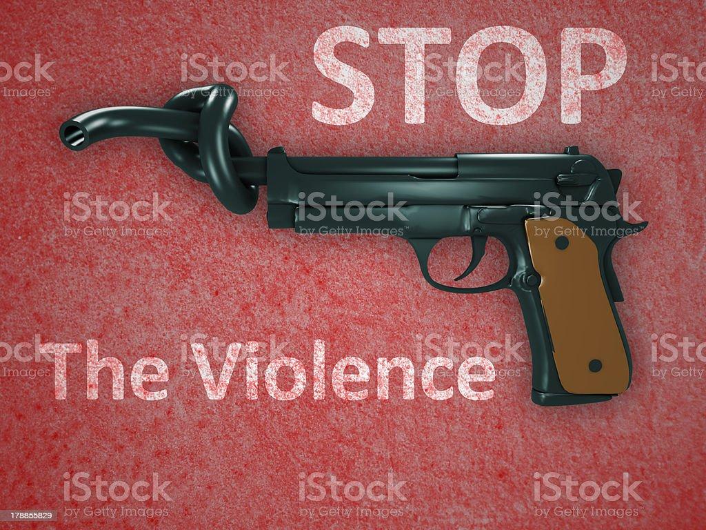 No gun violence symbol royalty-free stock photo